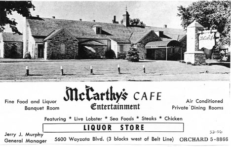 Mccarthy S Cafe St Louis Park Historical Society